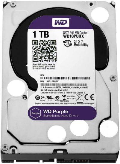 Picture of WD Purple 1TB Surveillance Hard Disk Drive